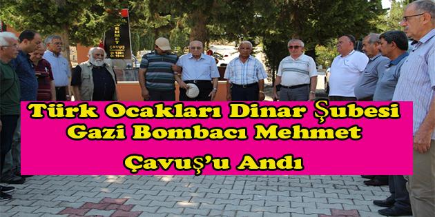 Dinar'da Gazi Bombacı Mehmet çavuş Anıldı