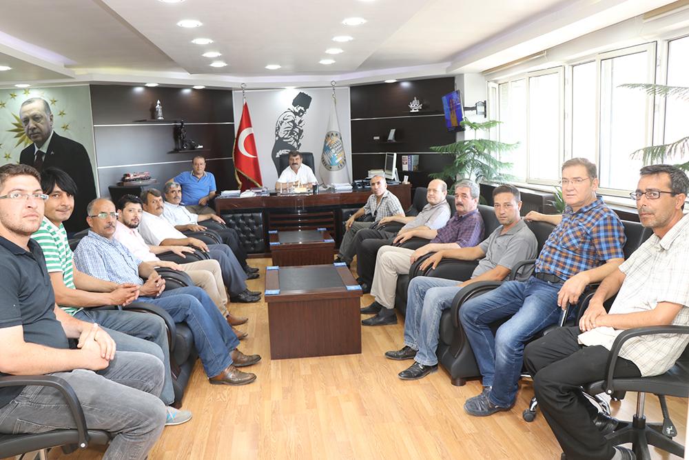 Dinar Belediye Spor Yönetiminden Başkan Sarı'ya Ziyaret