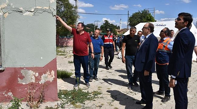 Afyon Valisi Mustafa Tutulmaz, Deprem Hasarlarını İnceledi