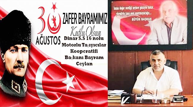 Başkan Bayram Ceylan'dan 30 Ağustos Zafer Bayramı Mesajı