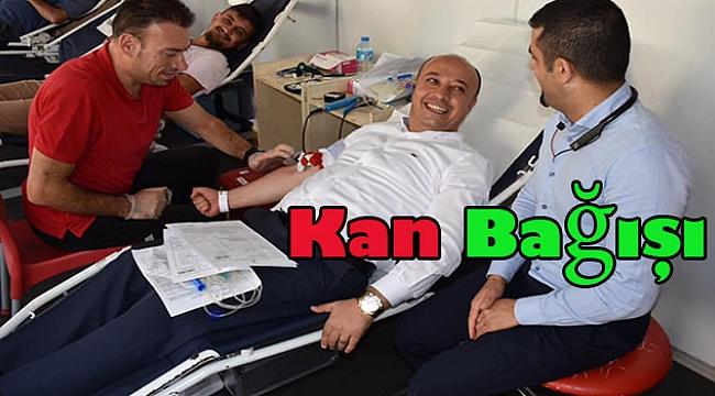 Başkan İsmail Taylan Türk Kızılay'ına Kan Bağışında bulundu.