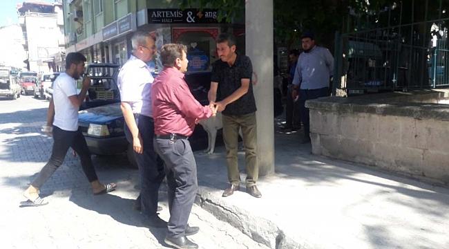 Başkan Nihat Sarı Deprem'de Halkın yanında Oldu