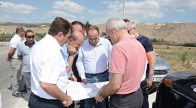 Dinar'da Karayolları Genel Müdürü Uraloğlu İnceleme yaptı