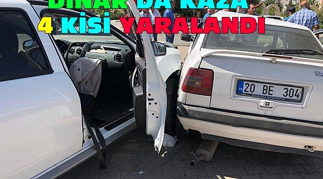 Dinar'da Kaza Dört Yaralı