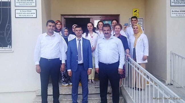 Afyon İl Sağlık Müdürü Kormaz Dinar'da Işık'ı ziyaret etti