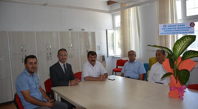 Başkan Sarı Yeni Eğitim Öğretim Yılı Ziyaretlerine Başladı