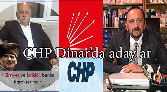 DİNAR'DA CHP'DEN İLÇE BAŞKANLIĞINA İKİ ADAY ÇIKTI