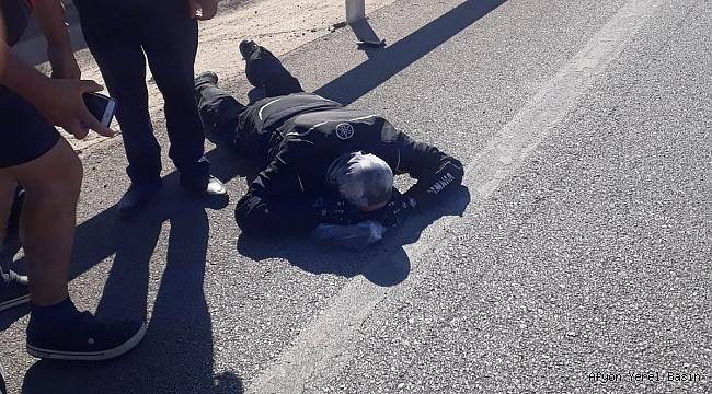 Dinar'da Kaza Ağır Yaralandı