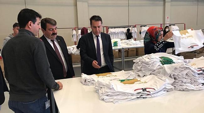 Dinar'da Mufy Tekstil ve Tensan Fabrikasına Ziyaret