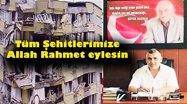 Başkan Bayram Ceylan'dan 1 Ekim Deprem Şehitlerini Anma Mesajı