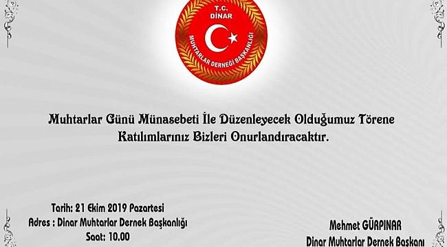 Başkan Mehmet Gürpınar'dan Davet