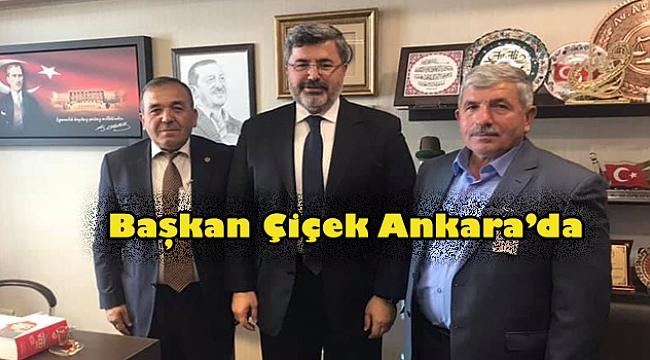 Başkan Şuayip Çiçek Beldesi için Ankara'da