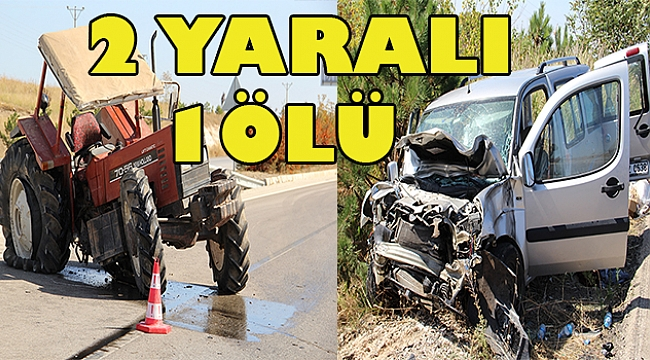 Dinar'da Kaza 1 Ölü 2 yaralı