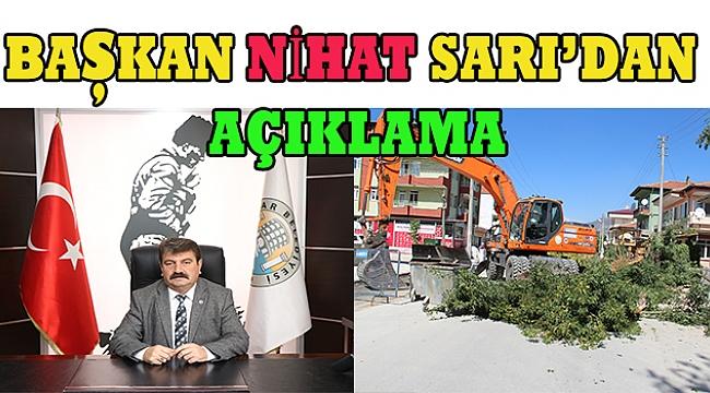 Dinar Pancar Mahallesi Yol Üzerinde Ağaç Kesimi ile ilgili Açıklama Başkan Nihat Sarı'dan geldi