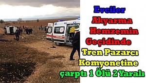 Afyonkarahisar'da Tren Kamyonete Çarptı 1 Ölü 2 Yaralı