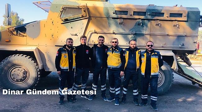 Dinar 112 Ekibi Suriye Sınırında