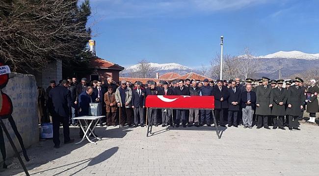 Dinar da Kore Gazisi Son Yolculuğuna Uğurlandı