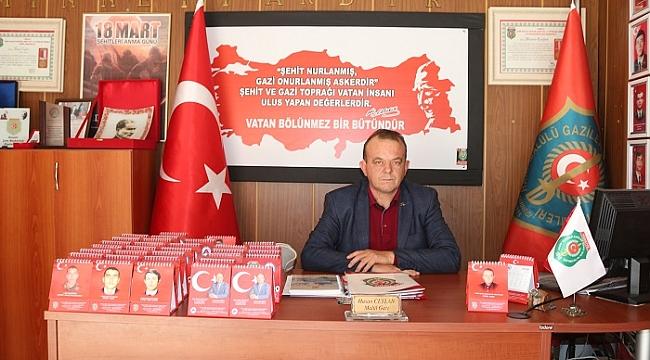 DİNAR'DA ŞEHİT ve GAZİLERE ÖZEL TAKVİMLER BASILDI