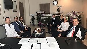 Dinar Kaymakamı Selami Kapankaya, Yeni Başhekim ve Yeni Müftü'yü Ziyaret Etti