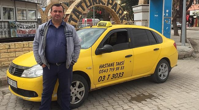 Dinar'lı taksiciden 'korona virüs' fedakarlığı