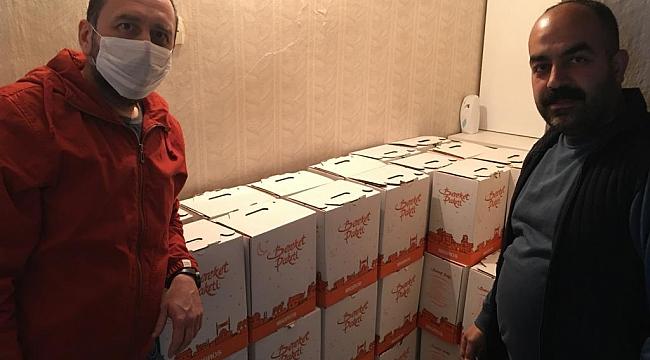 Dinar CHP İlçe Örgütü 350 Haneye Gıda Yardımı Ulaştırdı