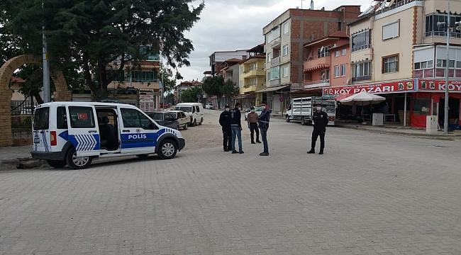 Dinar'da Kovid 19 salgını ile mücadele kapsamında sokağa çıkma kısıtlaması