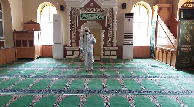 İlçemizde camiler dezenfekte edildi