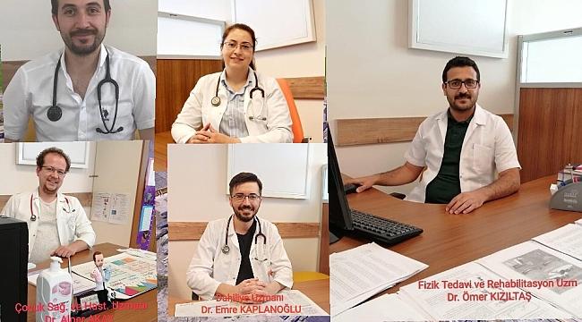 Dinar Devlet Hastanesi'nde Yeni Doktorlar Göreve Başladı