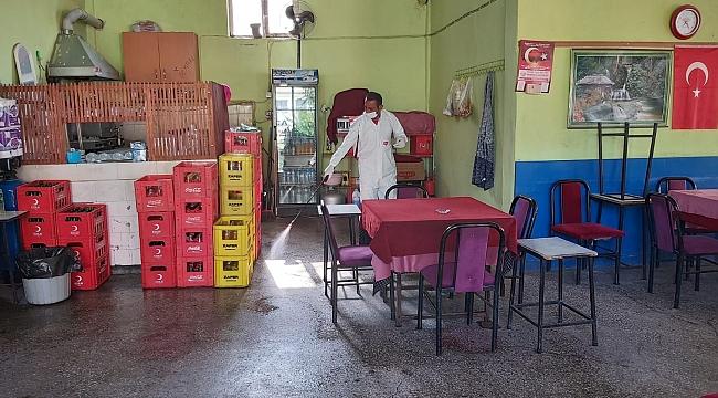 İlçemizde Kahvehaneler dezenfekte edildi
