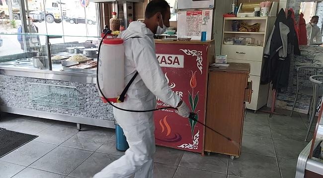 İlçemizde Lokantalar, Kreşler ve Kafeler dezenfekte edildi