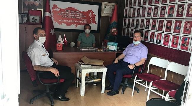 Kaymakam Kapankaya'dan Dernek Başkan'ı Ceylan'a Ziyaret