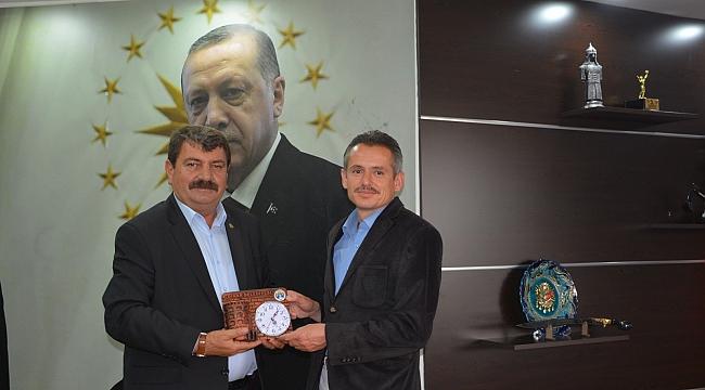 Orman İşletme Müdürü Yalçın'dan Başkan Sarı'ya veda ziyareti