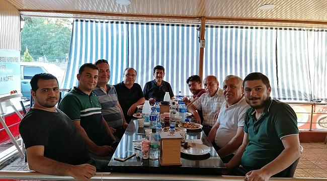 Dazkırı'da Türk Eğitim Sen'den Şube Müdürüne VedaYemeği ,