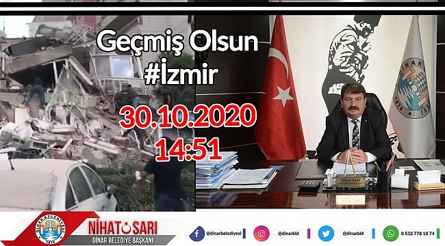 Belediye Başkanımız Nihat Sarı'dan İzmir Depremi ile ilgili açıklama
