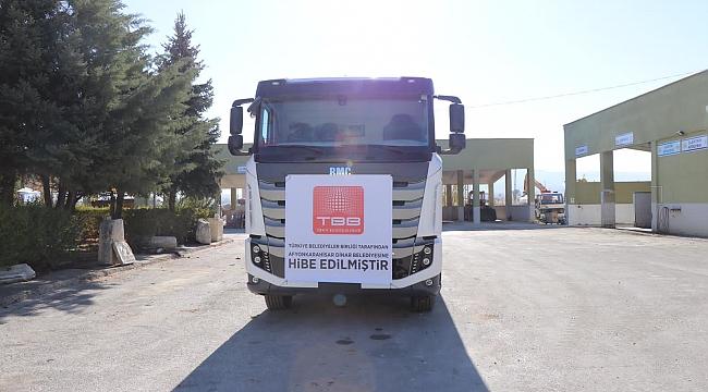 Türkiye Belediyeler Birliğinden Belediyemize Hibe Kamyon