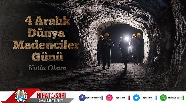 Başkan Sarı'dan Madenciler Günü Mesajı