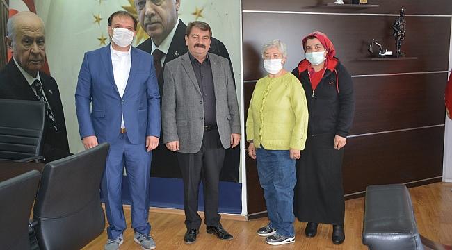 Dinarlı Hayvan severlerden Başkan Sarı'ya Ziyaret