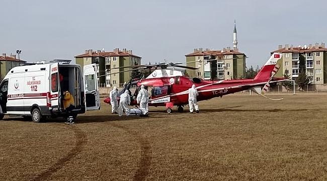 Hava Ambulansı (Helikopter) 2 Hastayı Götürdü