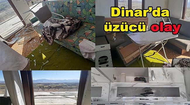 Dinar'da üzücü olay