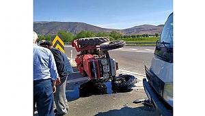 Kazada Devrilen Traktörün 81 Yaşındaki Sürücüsü Yaralandı