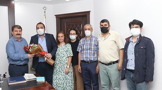 İmar Müdürlüğü Personellerinden Başkan Sarı'ya teşekkür ziyareti