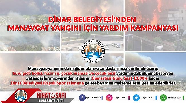 Dinar Belediyesinden Manavgat Yangını İçin Yardım Kampanyası