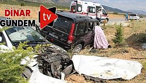 Dinar'da İki Otomobil Çarpıştı - 1 Ölü!