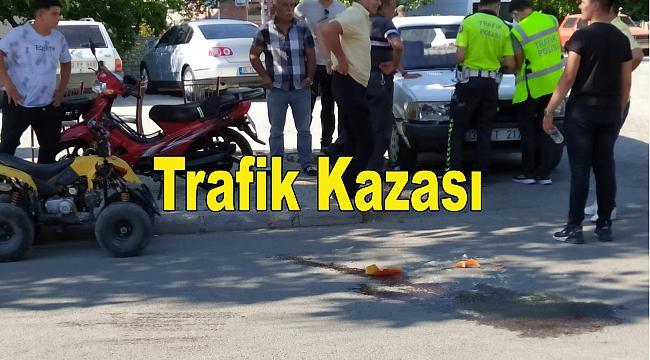 Dinar'da Trafik Kazası