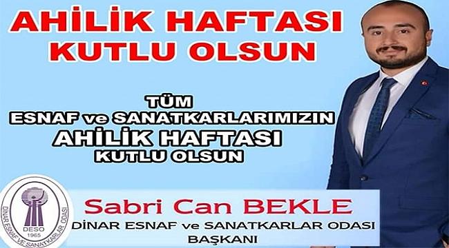 Başkan Sabri Can Bekle'den Ahilik Haftası Mesajı