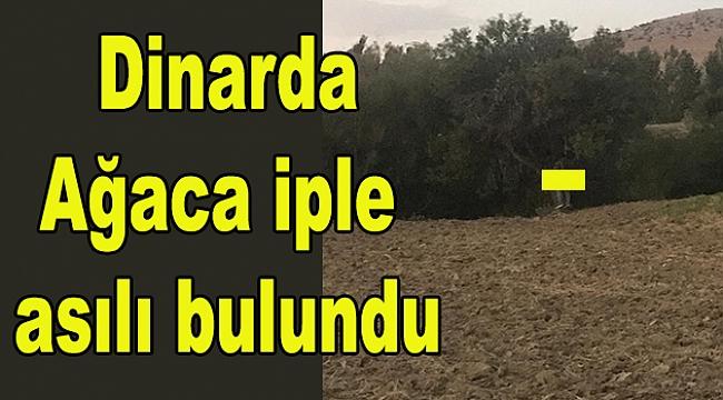 Dinar'da 1 Kişi Ağaca İple Asılı Bulundu