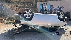 Dinar'da kaza 1 yaralı