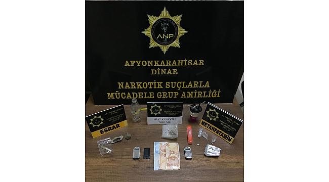 Dinar'da Uyuşturucu Satıcıları Yakalandı